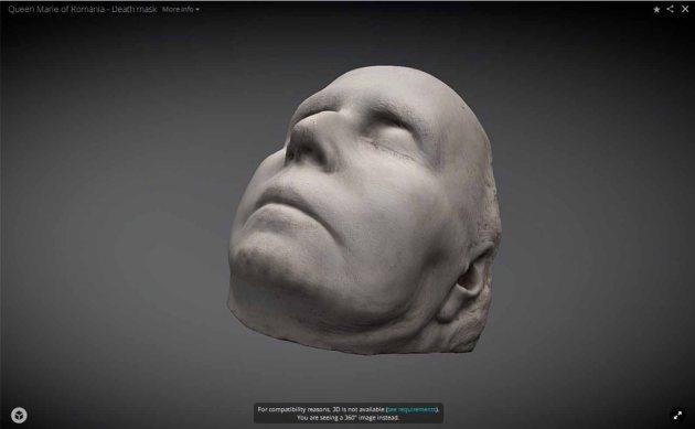 masca-mortuara-Regina-Maria-3D